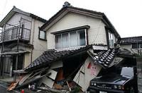 崩壊した建物